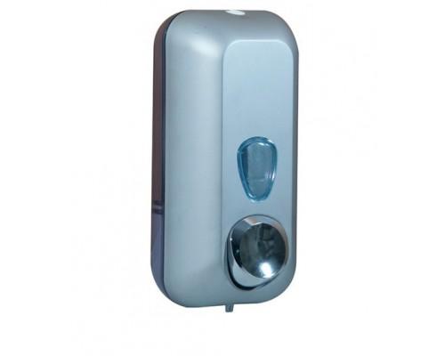Дозатор рідкого мила 0.55 л, сатиновий / прозорий, пластик. A71401SAT