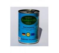 Консервований корм супер-преміум класу для котів Baskerville, (Німеччина) Індичка та риба 400 г.