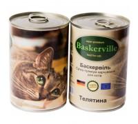 Консервований корм супер-преміум класу для котів Baskerville, (Німеччина) Телятина 200 г.