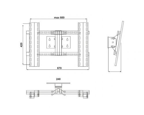 Кріплення  настінне Electriclight КБ-01-14