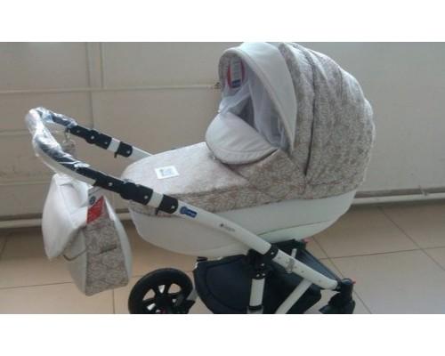 Дитячий візок Adamex Galactic 50% шкіра колір 713S